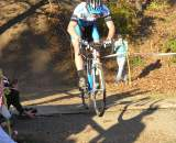 Adam Craig despite a first lap crash launches into the air and makes it back to the front. ? Paul Weiss