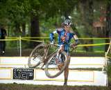 Katie Compton was at ease despite not pre-riding the course. © Mitch Clinton