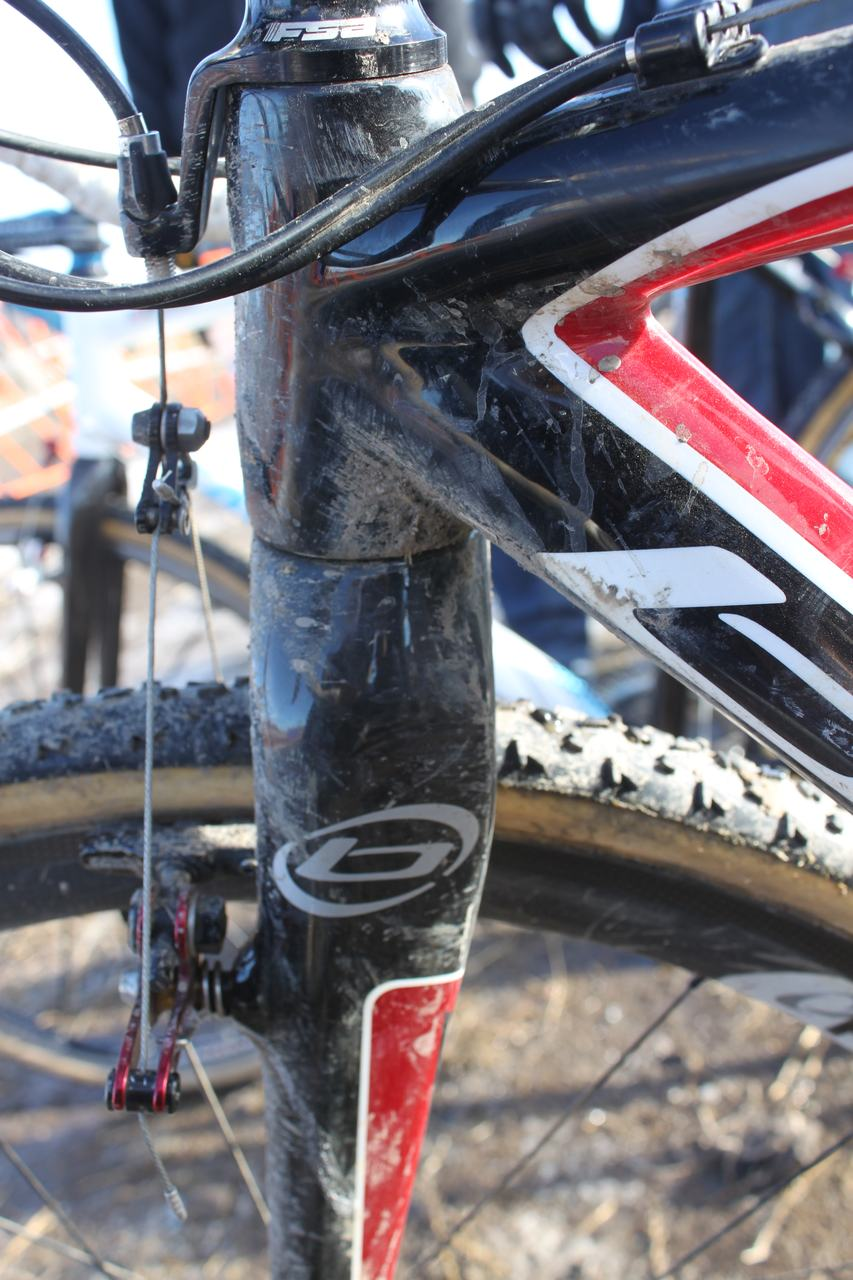 Wes Schempf rode Dugast Rhinos on his Blue Norcross. ? Cyclocross Magazine