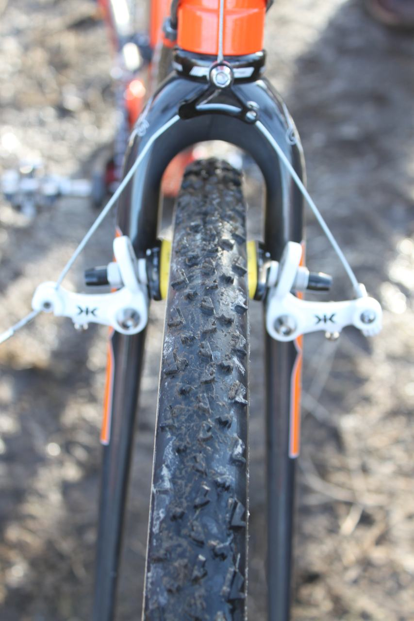 Kona/FSA's Ryan Trebon opted for 34mm Dugast Rhinos for his ride. ? Cyclocross Magazine