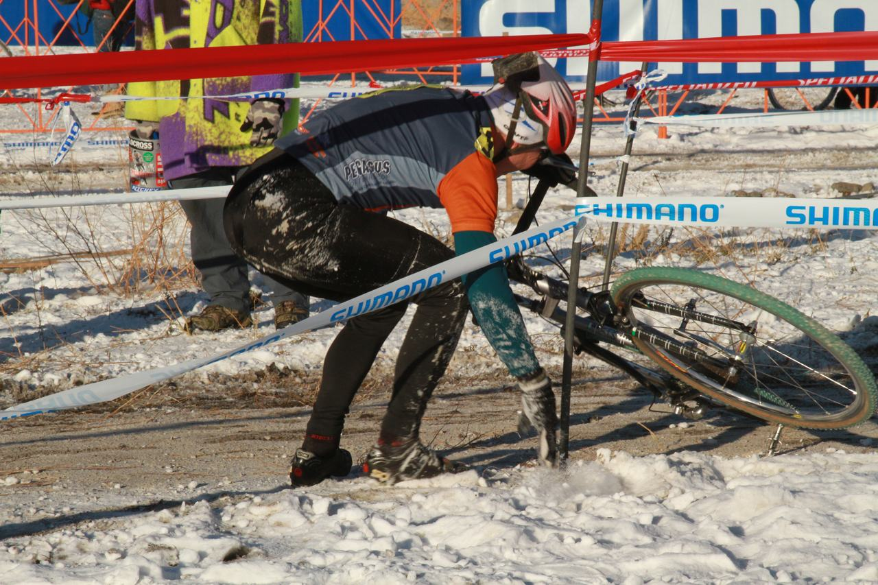 Crashes, Day 1, Cyclocross National Championships. ? Janet Hill