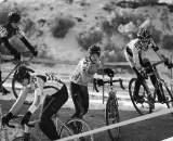 Crashes were the norm in the early, icy junior races. ? Joe Sales