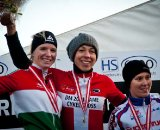 The women's podium (l-r) - Langvad, Kloppenburg and Hansen. © www.richardskovby.com