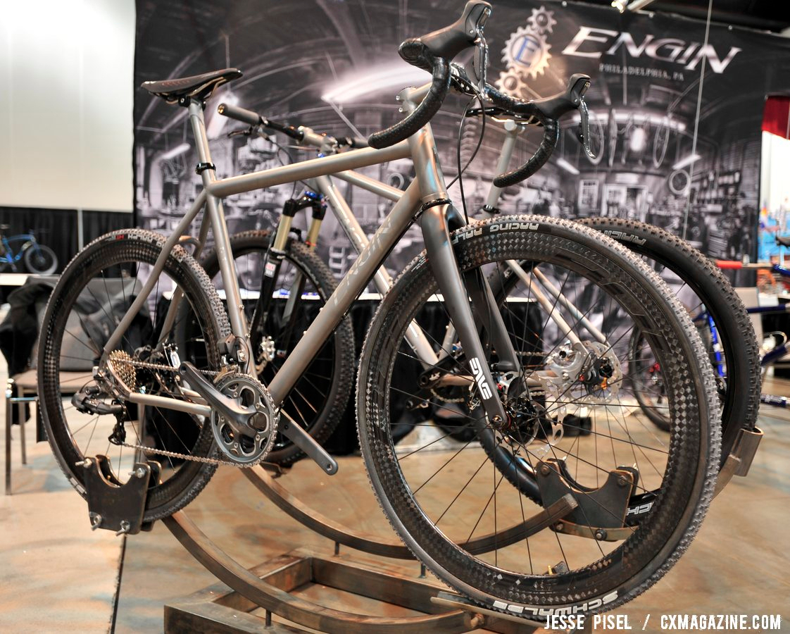 The Engin has custom Rol wheels built to go with it. NAHBS 2013 © Jesse Pisel