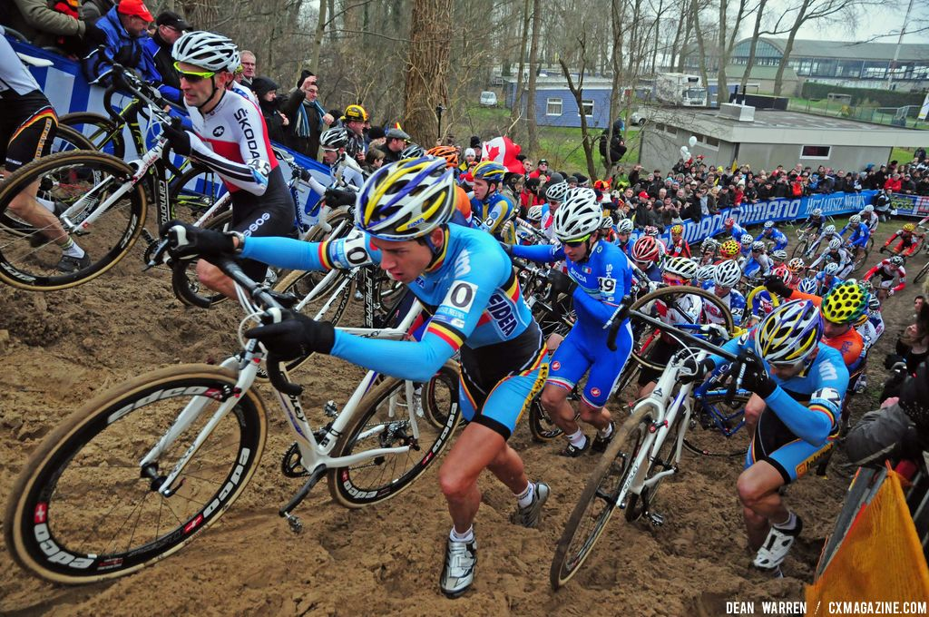 Koksijde Elite Men Cyclocross Worlds First Lap © Dean Warren
