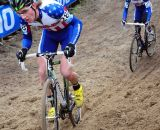 Driscoll and Jones up hill at Koksijde Cyclocross Worlds © Dean Warren