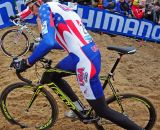 Ryan Trebon up sandy hill at Koksijde Cyclocross Worlds © Dean Warren