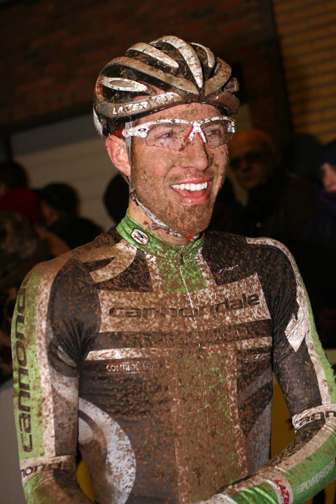 Jeremy Powers clearly enjoyed the race and the conditions. ? Bart Hazen