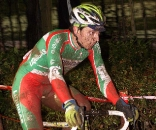 Enrico Franzoi splashing through the mud in Diegem. ? Bart Hazen