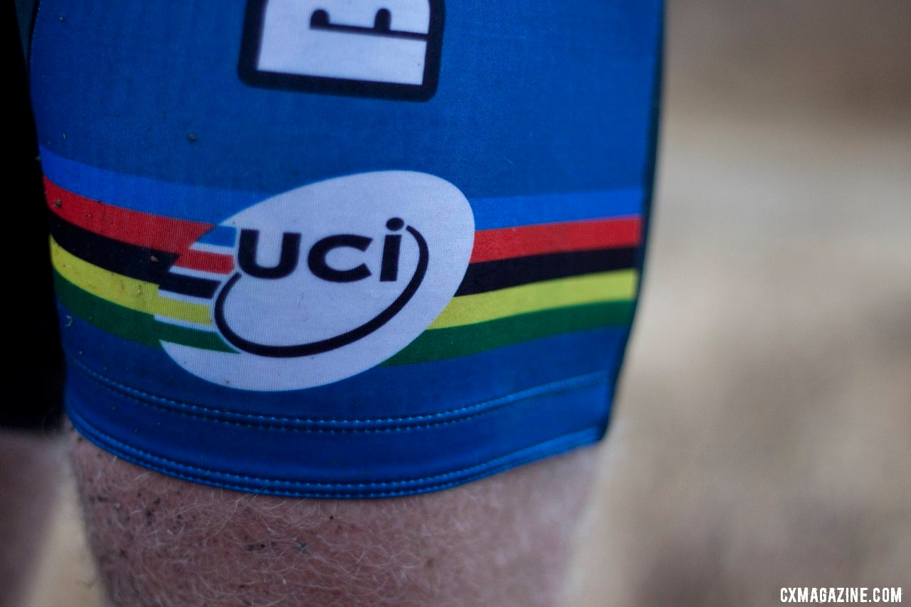 Don Myrah was a mountain bike World Champ before it was a UCI event, and now finally gets to sport the rainbow stripes of a UCI World Champion. ©Cyclocross Magazine