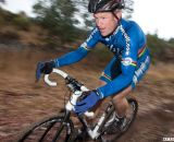 Don Myrah on his new 2013 Hakkalugi Disc cyclocross bike with hydraulic disc brakes. ©Cyclocross Magazine