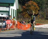 Dylan McNicholas (Pedro's) celebrates his first-ever UCI victory © Pedal Power Photography