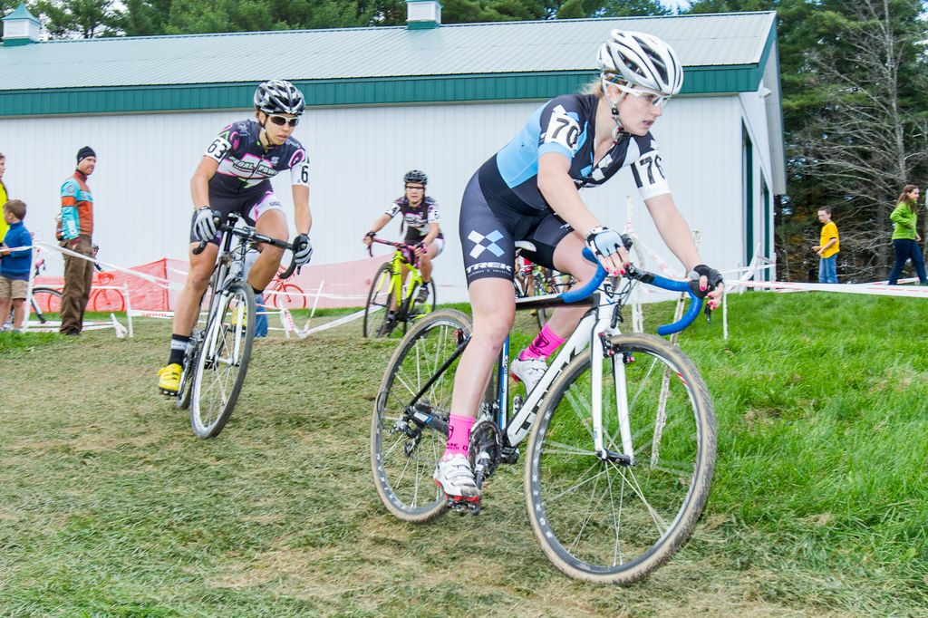 Noble, Barensfeld, and Bowman together as they try to chase Anthony© Todd Prekaski