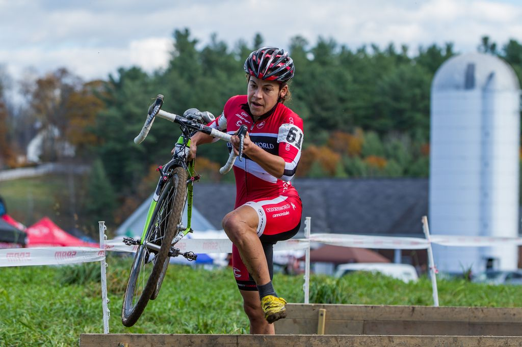 Despite a difficult start to her race, Anthony rode away for her fourth Verge Series win © Todd Prekaski