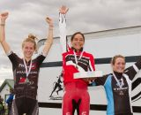 The women's podium: Noble, Rochette, and Anthony © Todd Prekaski
