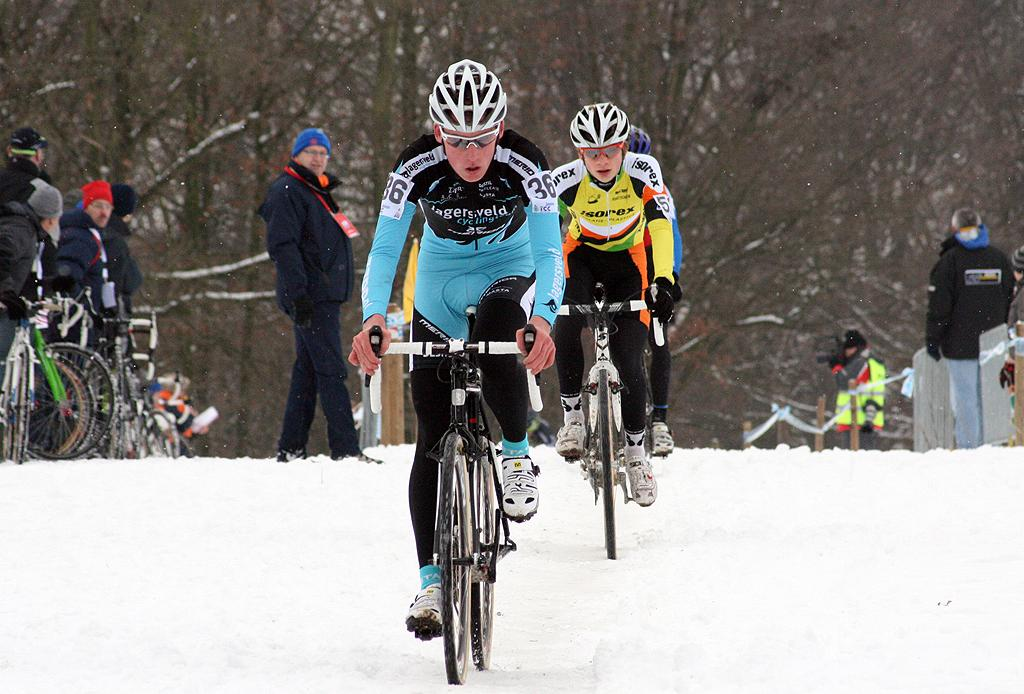 Teunissen would lead early but eventually fade to third. ? Bart Hazen