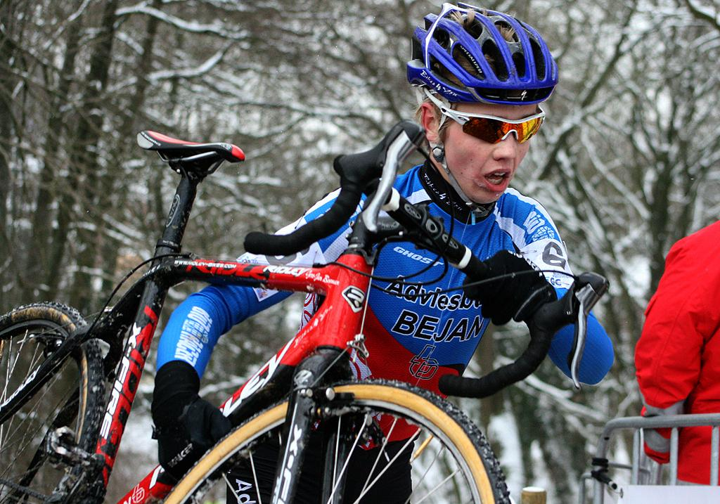Gertjan Bosman made the early break and finished fourth. ? Bart Hazen