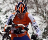 Gerben de Knegt was one of two rabobank riders in the early break. ? Bart Hazen