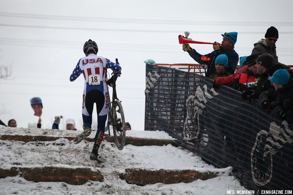 US rider Stephen Basset in the Elite Junior World Championships of Cyclocross 2013 © Meg McMahon