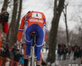 Cleppe powers away in the Elite Junior World Championships of Cyclocross 2013 © Meg McMahon
