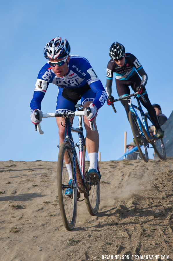 Johnatan Page (fuji / Spy Optics)leads Allen Krughoff (Raleigh / Clement).  © Brian Nelson