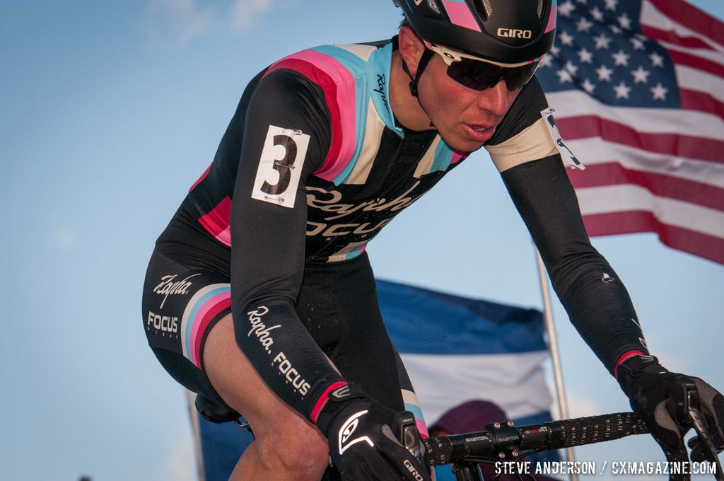 Powers on the way to the win at Elite Men 2014 USA Cyclocross Nationals. © Steve Anderson