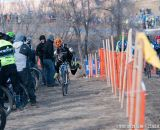 Kevin Bradford-Parish pits at Elite Men 2014 USA Cyclocross Nationals. © Steve Anderson