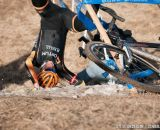 Hitting the deck at Elite Men 2014 USA Cyclocross Nationals. © Steve Anderson