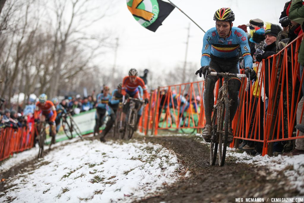 A Belgian rider in the Elite U23 World Championships of Cyclocross 2013 © Meg McMahon