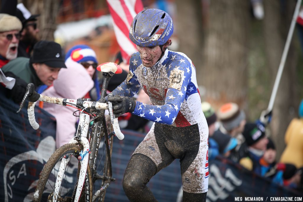 Zach McDonald took 11th in the Elite U23 World Championships of Cyclocross 2013 © Meg McMahon