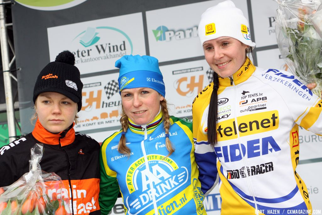 Podium at GP Heuts. © Bart Hazen