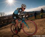 Compton powering away at Elite Women 2014 USA Cyclocross Nationals. © Steve Anderson