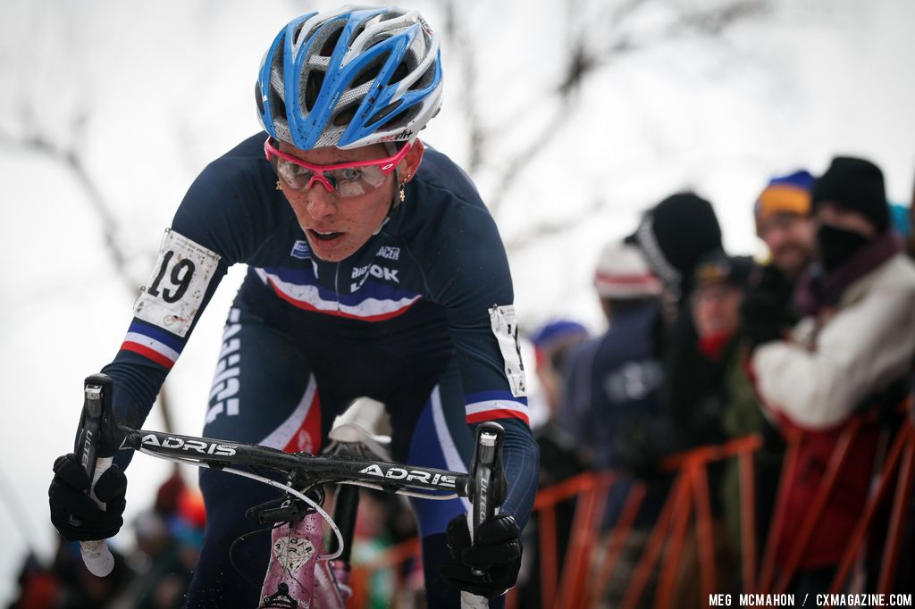 Lucie Chainel-Lefevre had an amazing race to third in the Elite Women World Championships of Cyclocross 2013 © Meg McMahon