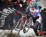 Compton charges in the Elite Women World Championships of Cyclocross 2013 © Meg McMahon