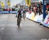 Nash with one to go in the Elite Women World Championships of Cyclocross 2013 © Meg McMahon