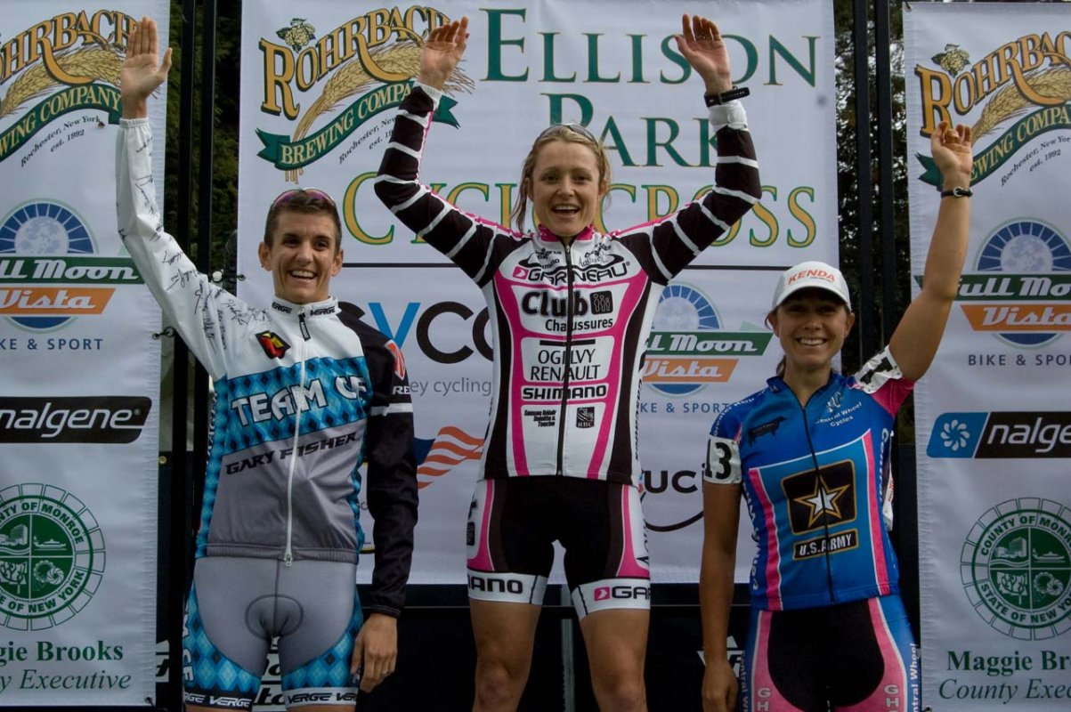 The elite wmoen\'s podium. © Brian Boucheron