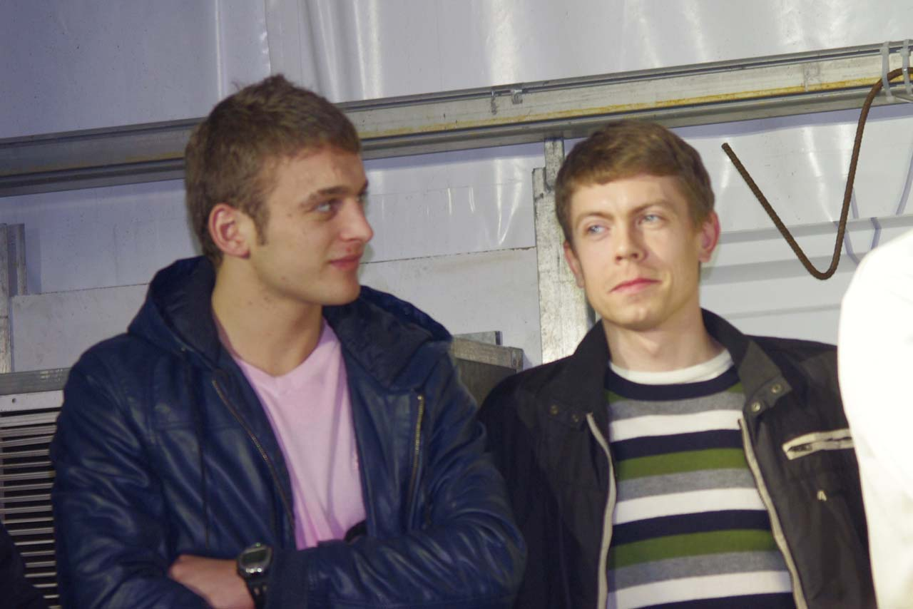 Vervecken teammates U-23 World Champion Pawel Szczepaniak and Polish Champion Mariusz Gil. ? Jonas Bruffaerts