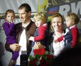 Vervecken sharing the spotlight with his family. ? Jonas Bruffaerts