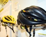 Mavic has extended their brand even further this year with a helmet line. The Plasma SLR helmet is light, and features carbon fiber structural reinforcement and oversized vents. © Jeff Lockwood