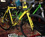 Coming from the oddly-named company Fixie Inc, the Pure Blood is a bright yellow (official name: acid yellow) geared cyclocross offering. The Pure Blood is custom double butted superlight 4130 all the way, brought together with a combination of TIG welding and fillet brazing. © Jeff Lockwood