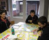 Passing the time with a game of Monopoly. ? Nathan Phillips