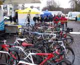 The EuroCrossCamp attendees' bikes. ? Nathan Phillips