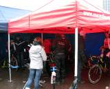 The EuroCrossCamp team tent. ? Nathan Phillips