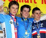 The juniors podium at the European Championships. © Bart Hazen