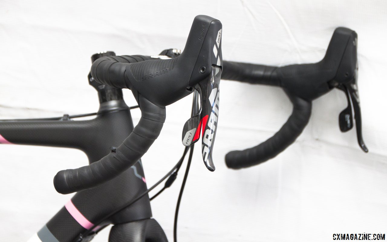 3T Ergoterra Pro handlebars on the Felt 2014 F2x carbon cyclocross bike. © Cyclocross Magazine