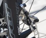 The Felt F2x relies on SRAM's top-shelf hydraulic disc brakes for stopping. © Cyclocross Magazine