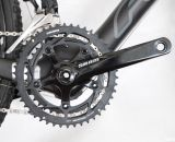 SRAM Red 22's YAW front derailleur offers no-trim shifting on the Felt 2014 F2x carbon cyclocross bike. © Cyclocross Magazine