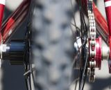 Felt 2014 Breed Singlespeed Cyclocross Bike features 135mm rear-facing dropouts. © Cyclocross Magazine