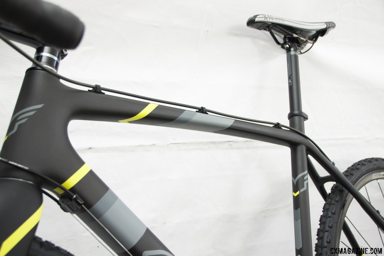 UHC  Performance MMC carbon fiber comprises the frame on the Felt 2014 F5x carbon cyclocross bike. © Cyclocross Magazine