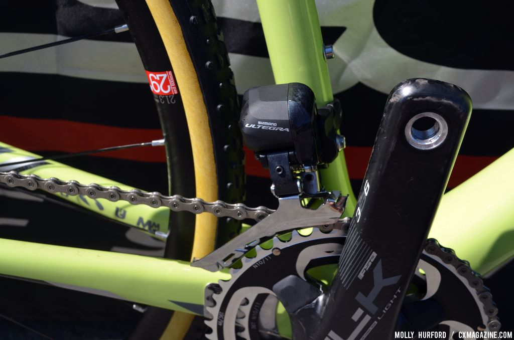 Shimano Ultegra Di2 on the Felt F2x at Sea Otter 2014. © Cyclocross Magazine